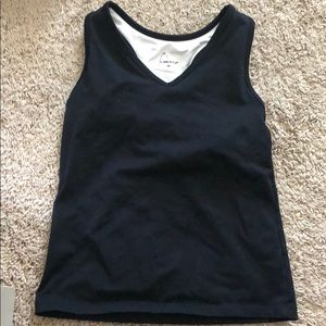 Black workout tank top with bra attached